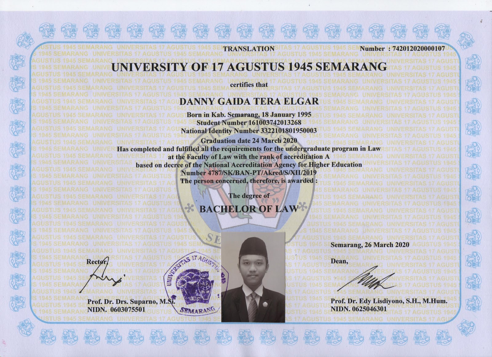 Fakultas Hukum Universitas 17 Agustus 1945 (UNTAG) Semarang