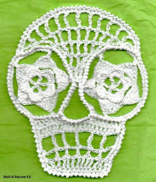 Crocheted Skulls
