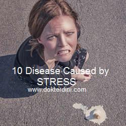 stress disease, penyakit akibat stres, disease caused by stress, woman stress