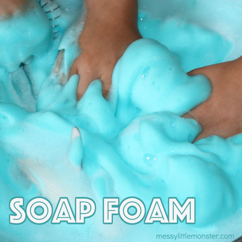 How to make Fluffy Soap Foam for Sensory Play
