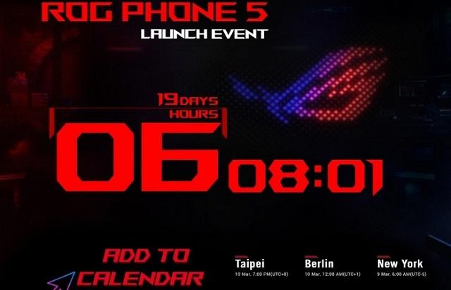 Asus Rog Phone 5 ra mắt