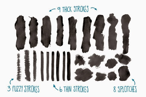 This weeks freebies Photoshop brushes