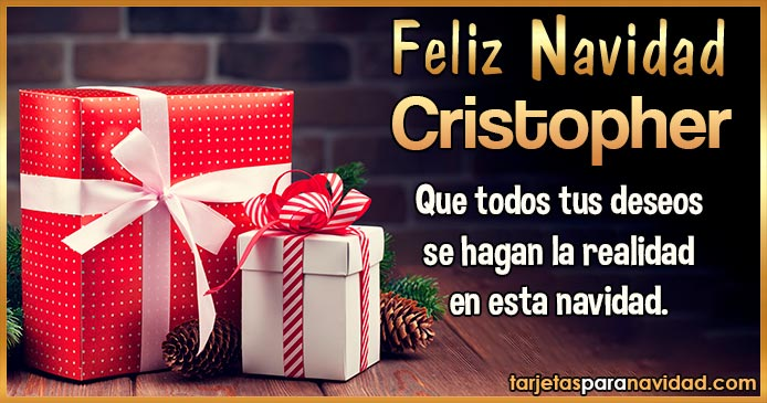 Feliz Navidad Cristopher