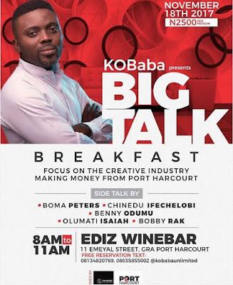 #BigTalkBreakfast: KO Baba Presents: BIG TALK BREAKFAST