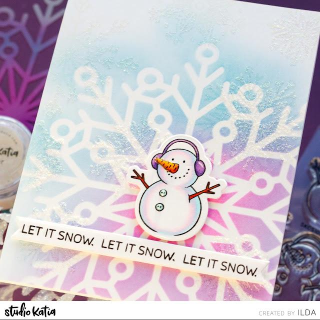 Let It Snow - Snowflake Card | Studio Katia