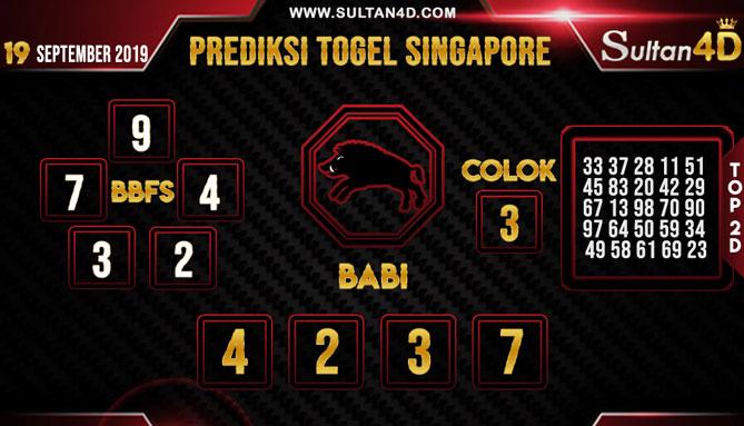 PREDIKSI TOGEL SINGAPORE SULTAN4D 19 SEPTEMBER 2019