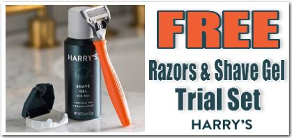 free razor and gel trial set from harrys