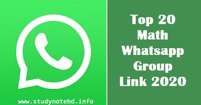 Maths WhatsApp Groups