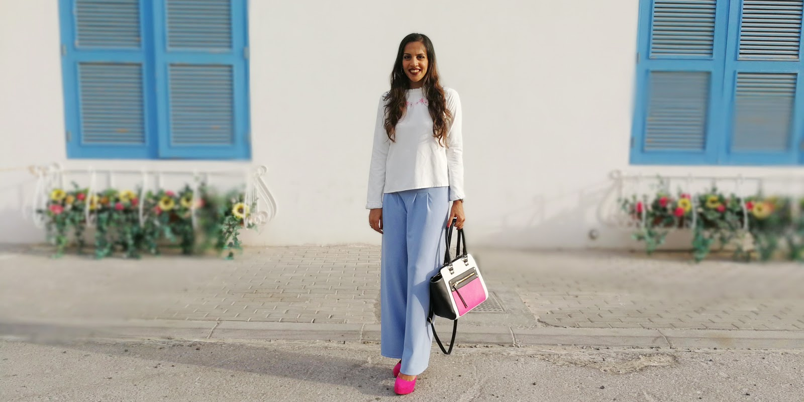Baby Blue and Pink in a Soft Feminine Look + Life/ Blogging Update