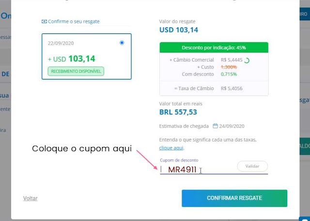 receber dinheiro do adsense pelo remessa online com cupom de desconto