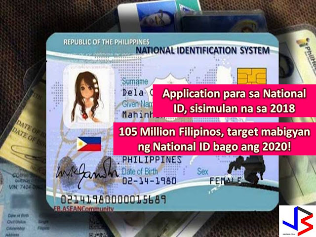To curb crimes and to accelerate the resolution of crimes, the Philippine government is planning to issued national ID to all 105 million Filipinos.  The proposal is very much possible within the term of President Rodrigo Duterte.  Aside from crime resolution, the national ID system will help ease the delivery of social services to all Filipinos.