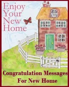 Congratulation Messages New Home