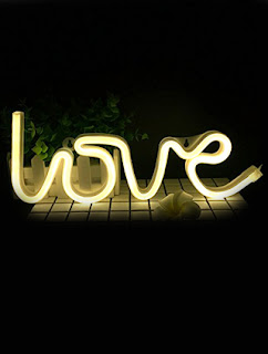 Unique gifts - Neon Love Light  : HASTHIP Neon Night Light Love Shaped LED Lamp (White)