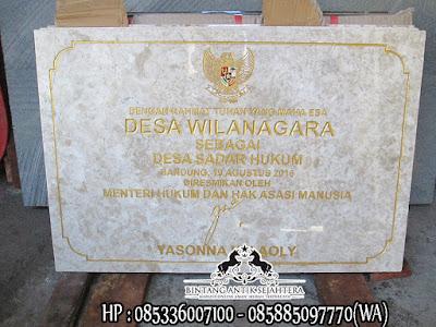 Prasasti Dana Desa, Jual Prasasti Marmer Dana Desa, Daftar Harga Prasasti