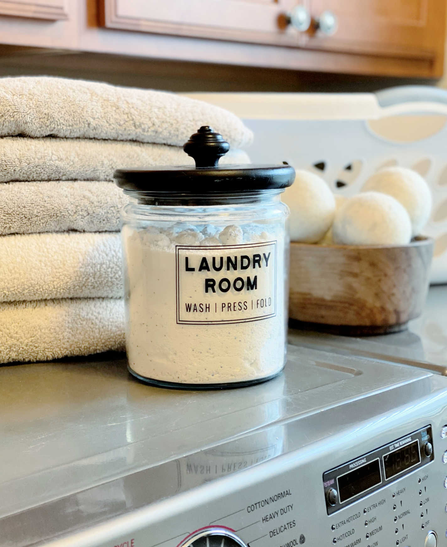 cricut laundry room jar