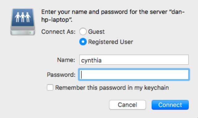 Chia sẻ tệp trên máy Mac với người dùng Windows