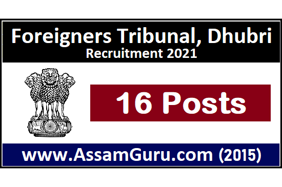 foreigners-tribunal-dhubri-Job
