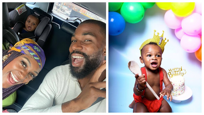 I am Proud to call you my son- BBNaija star, Frank Edward wife, Perri pens down emotional words as her son clocks 1-year-old (Photos)