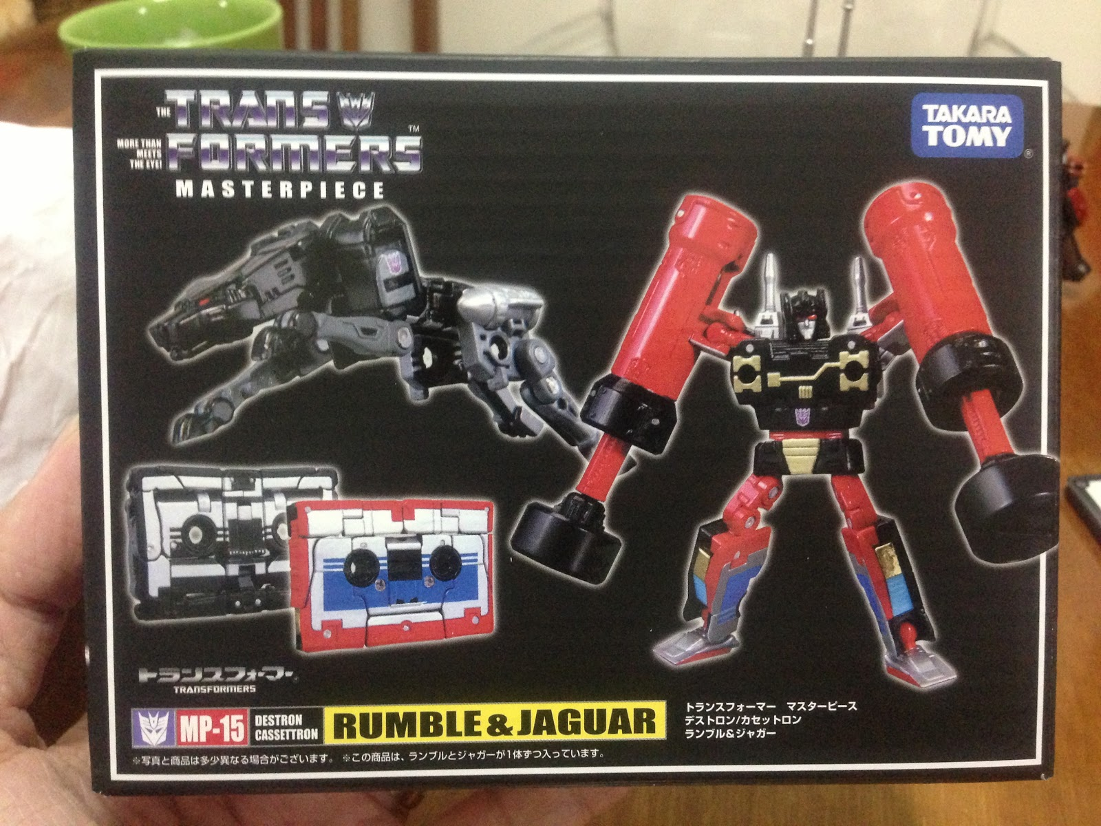 Takara 100/% Authentic Transformers Masterpiece MP-15 Rumble /& Jaguar Cassettes