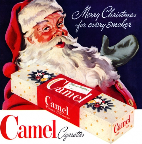Santa Claus: Merry Christmas for Every Smoker (Camel Cigarettes)