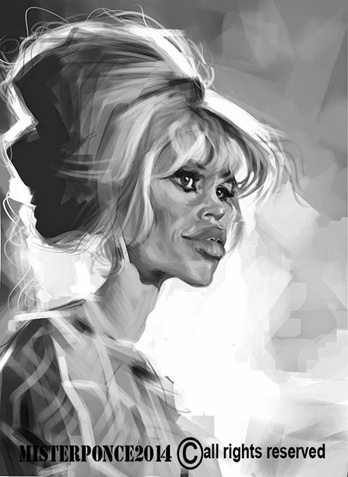 "Caricatura de ""Brigitte Bardot"" por Misterponce"