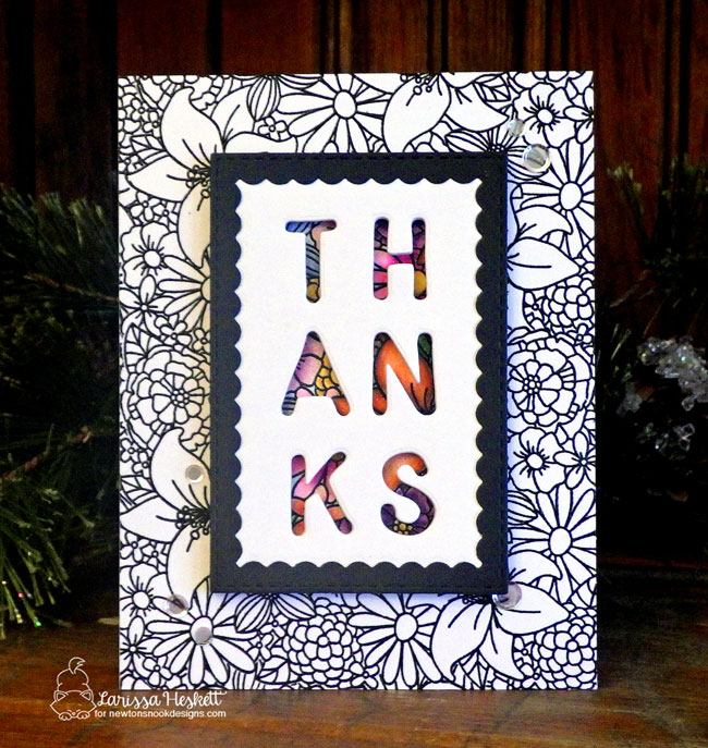 Floral Card by Larissa Heskett | Blooming Botanicals Stamp Set + Framework Die Set by Newton's Nook Designs #newtonsnook