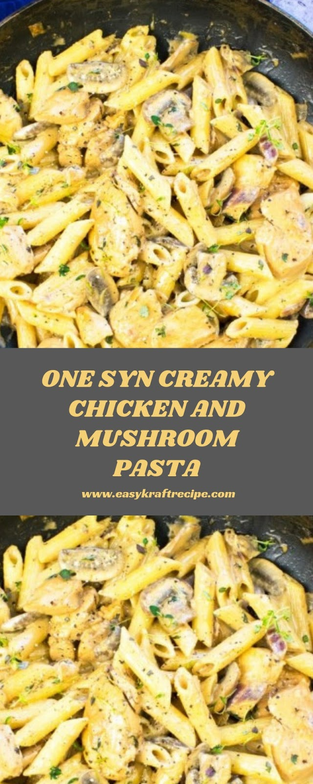 ONE SYN CREAMY CHICKEN AND MUSHROOM PASTA
