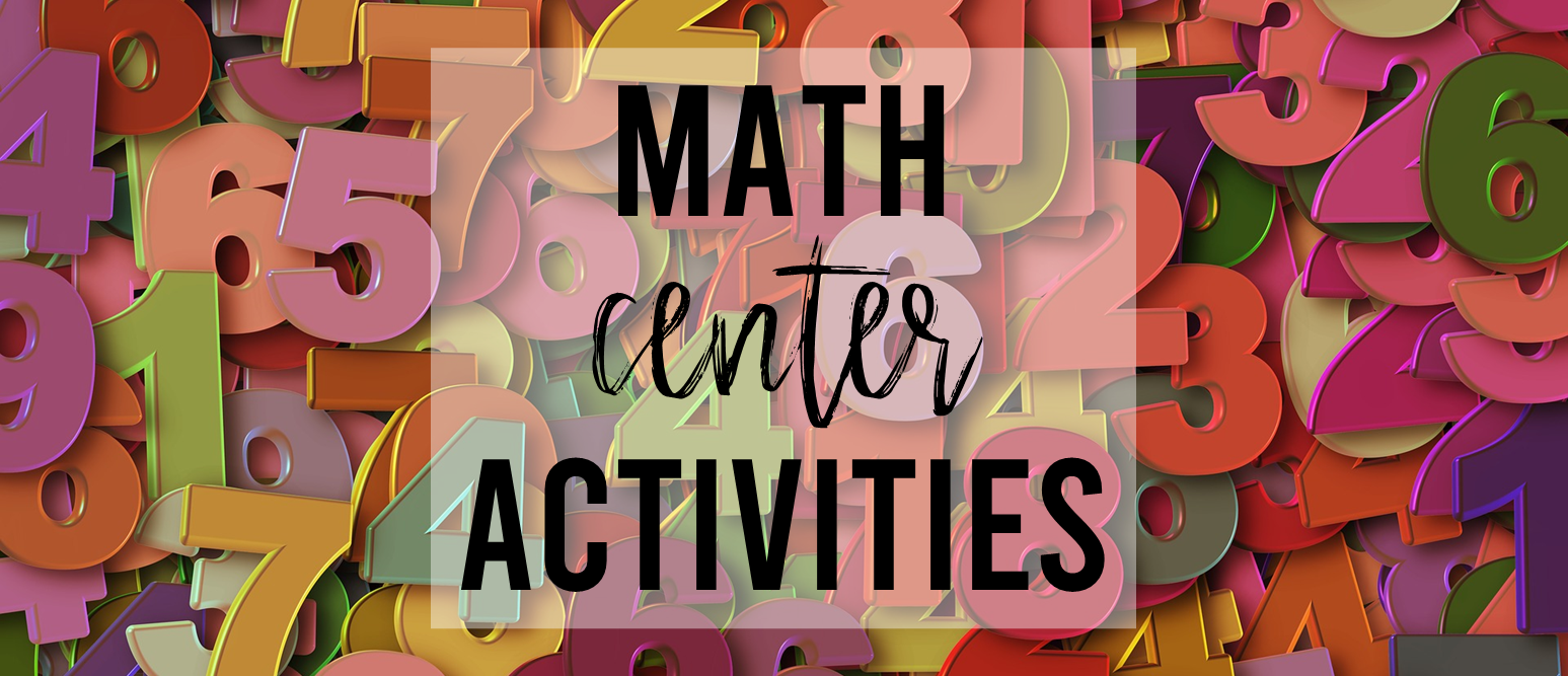 Math center activities for Kindergarten