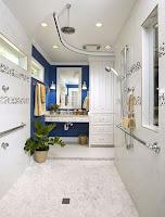 Modern Narrow Universal Bathroom Design