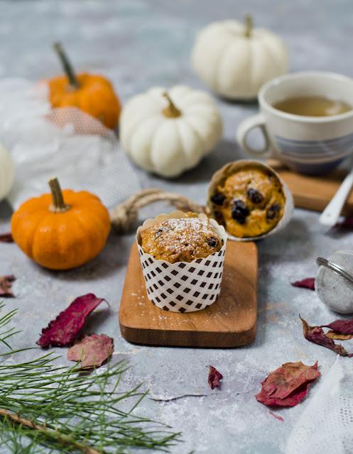 muffiny dyniowe z rodzynkami