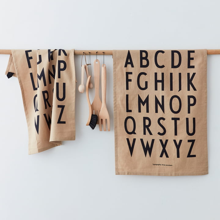 Kuchenne ścierki z literami
