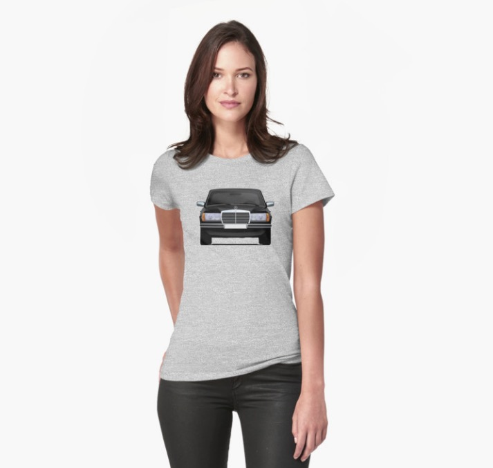 Mercedes benz w123 t shirt car illustrations printed on for Mercedes benz shirts and clothing