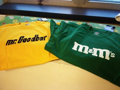 m&m shirt