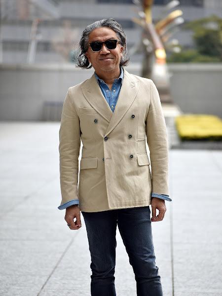 40代メンズのジャケット パンツ スタイル