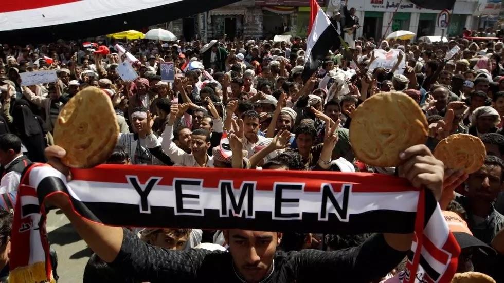 Protestos em Sanana, no Iêmen