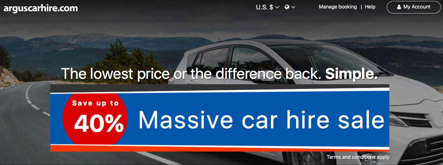Car Hire Price Comparison Website