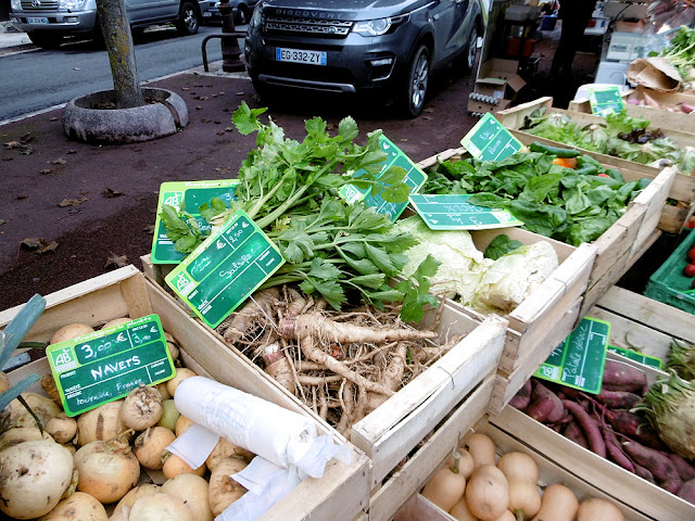 Organic vegetables at a market, Indre et Loire, France. Photo by Loire Valley Time Travel.