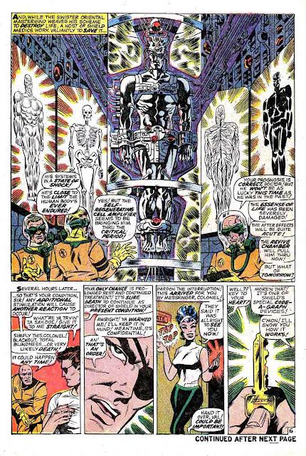 Strange Tales v1 #164 nick fury shield comic book page art by Jim Steranko