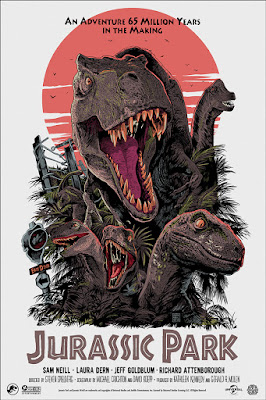 San Diego Comic-Con 2019 Exclusive Jurassic Park Movie Poster Screen Print by Francesco Francavilla x Mondo