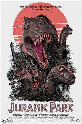 San Diego Comic-Con 2019 Exclusive Jurassic Park Movie Poster Screen Print by Francesco Francavilla x Mondo