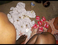 Kondom%2BKondom - SEX business in Nairobi booming! Man shocked after seeing the number of CONDOMS scattered on the floor after buying SEX in a cheap brothel(PICS)