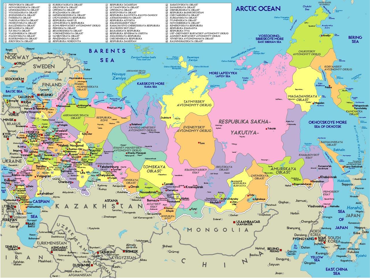 Mapa Politico De Rusia Actual.Diarios De V 2 0 Rossiya Kart Dlya Besplatnogo Skachivaniya