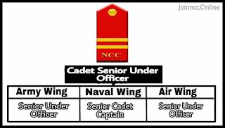 Cadet Senior Under Rank