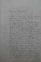 A handwritten letter in German