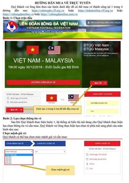 Hướng dẫn mua vé các trận của Việt Nam trên sân nhà tại vòng loại World Cup 2022