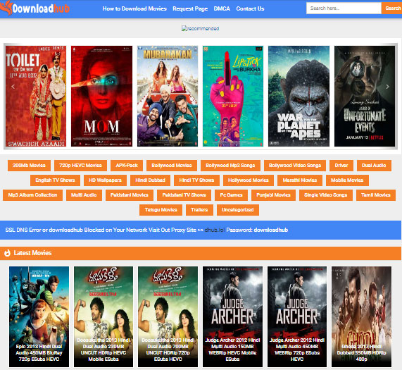 DownloadHub: 300MB Dual Audio Movies Download