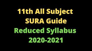 11th All Subject SURA Guide Tamil Medium and English Medium Reduced Syllabus 2020-2021