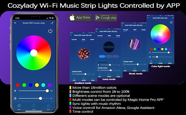 Cozylady LED Strip Lights 65.6FT