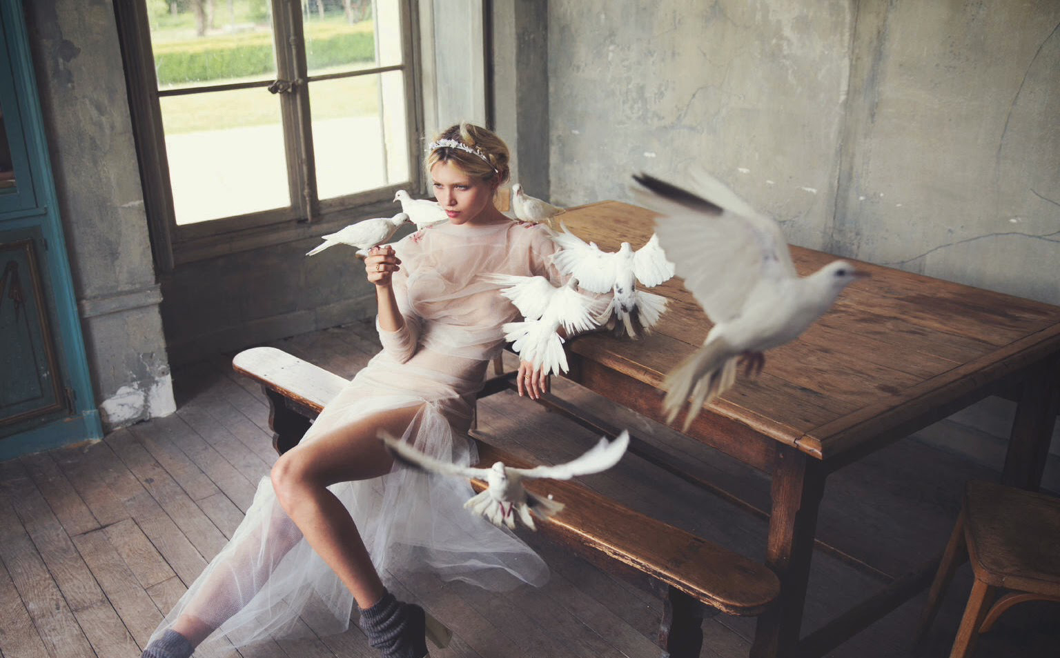 white mischief: hana jirickova by david bellemere for porter #5 winter 2014