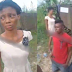 Video: Lady and her baby beaten, thrown inside gutter by brother in-law for disturbing his sleep